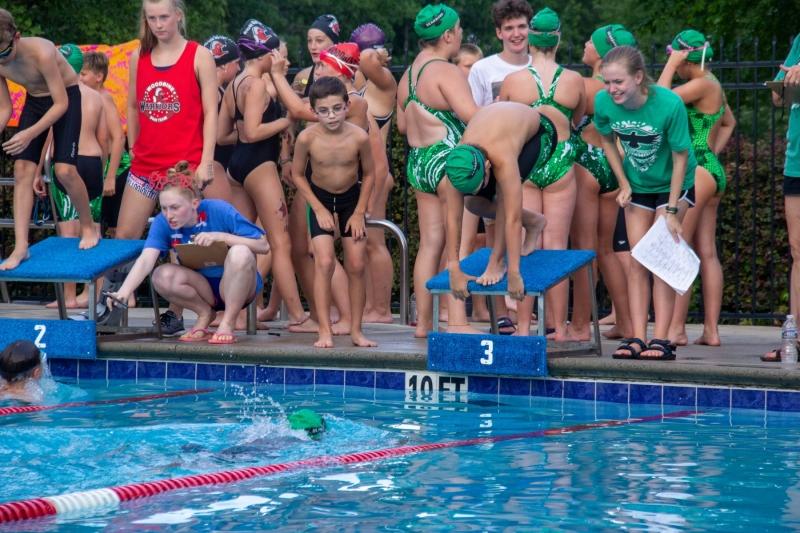 Swim Meet at Woodbine Station