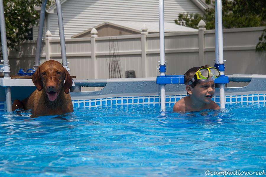 Swimming at Treasure Cove